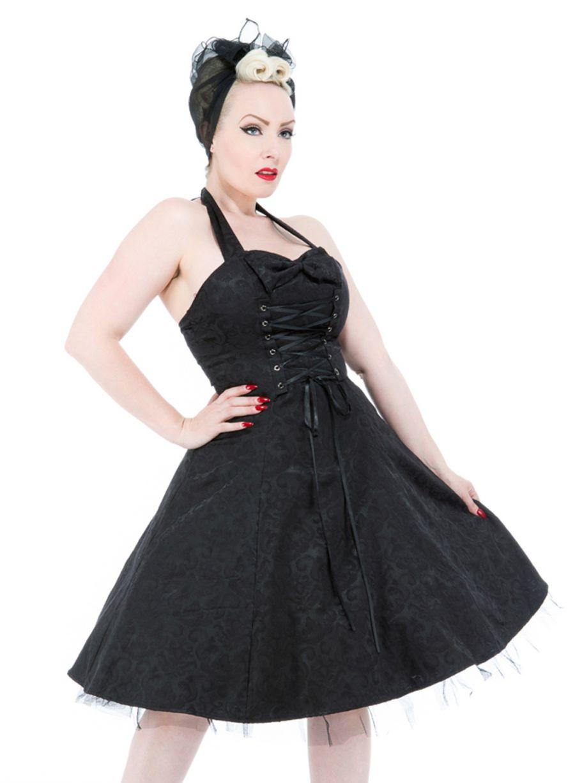 Shango Gotisk brokad KLÄNNING Alternativa kläder, kängor